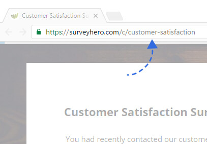 Customize your Survey Link!