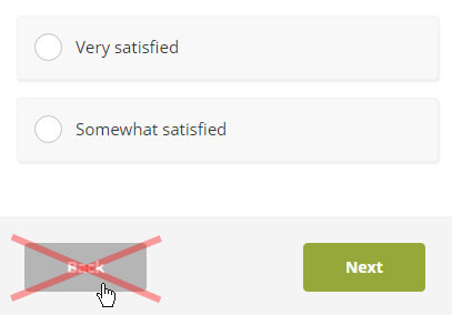 """Remove """"Back"""" Button From Your Survey"""