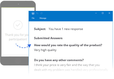 Get Participant's Answers by Email