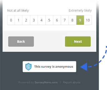 Make your Online Survey Completely Anonymous