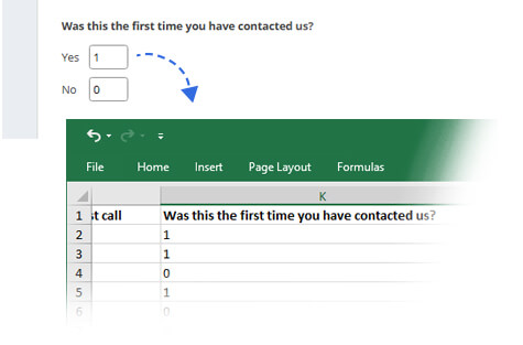 Change Default Values of your Exported Survey Responses