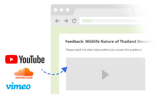 Embed Videos and Other Media into your Online Survey
